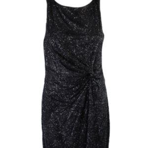 Calvin Klein Black Glittering sleeveless dress